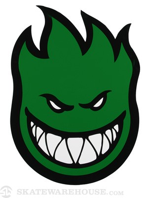 Spitfire Fireball Sticker X-Large Green
