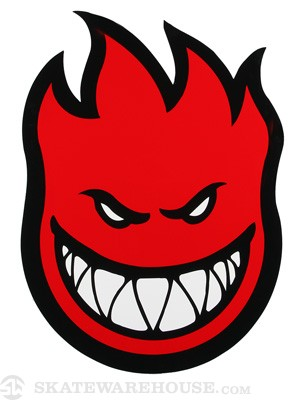 Spitfire Fireball Sticker X-Large RED