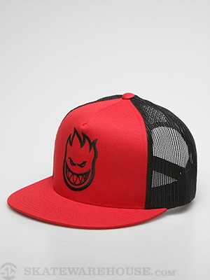 Spitfire Firehead Trucker Hat Red Adj.