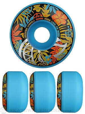 Spitfire Hawaiian Bighead Neon Blue Wheels