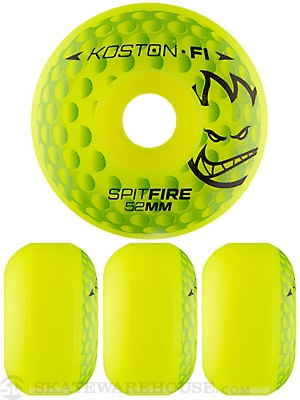 Spitfire F1Street Koston Hole In One Neon Yellow Wheels