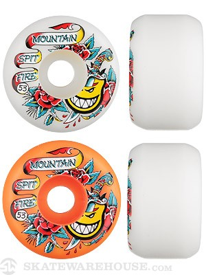 Spitfire Mountain OG Flash Mashup White/Orange Wheels