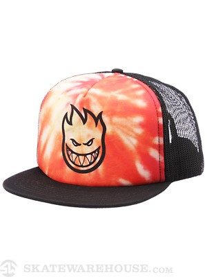 Spitfire Tie Dye Bighead Trucker Red/Orange