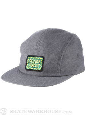 Shake Junt Box Logo 5 Panel Hat Brush Grey Adj