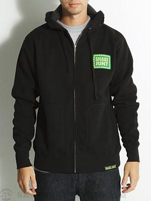 Shake Junt Box Logo Heavy Hoodzip Black/Green SM