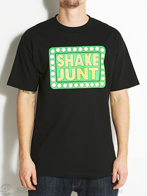 Shake Junt Box Logo Tee Black/Green SM