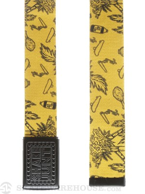 Shake Junt Casual Fridays Belt Yellow/Black Adj.