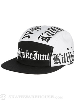 Shake Junt KYS 5 Panel Hat Black/White Adj.