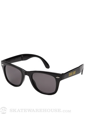 Shake Junt Stretch Logo Folding Sunglasses Black/Yellow