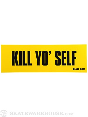 Shake Junt Kill Slogan Sticker