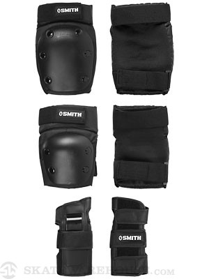 Smith Adult Protective Set 3 Pack  Black