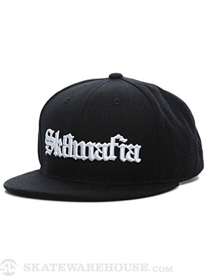 Sk8 Mafia Old English Snapback Hat Black Adj.