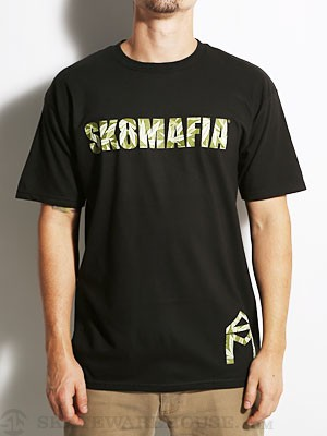 Sk8 Mafia OG Logo Leaves Fill Tee Black MD