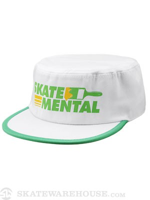 Skate Mental Painters Cap White/Green