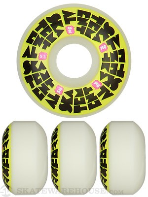 Skate Mental Stacked Yellow Logo Wheels 51mm