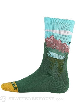Skate Mental Take a Hike Socks Green