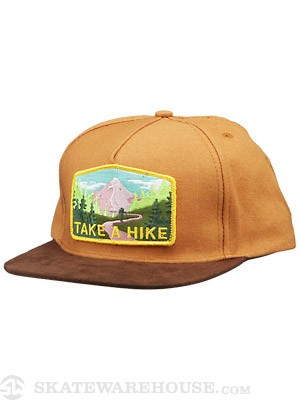 Skate Mental Take a Hike Suede Snapback Brown