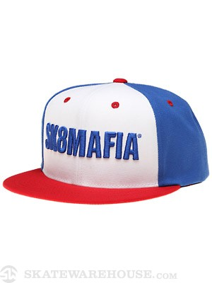 Sk8 Mafia OG USA Snapback Hat Red/White/Blue