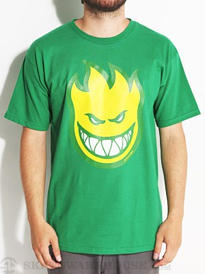 Spitfire Bighead Fill Tee Kelly Green/Yellow SM