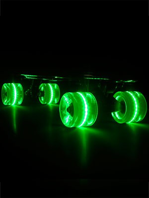 Sunset Flare Green LED Wheels  59mm
