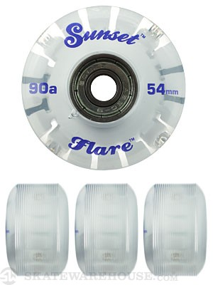 Sunset Flare Blue LED Wheels  54mm