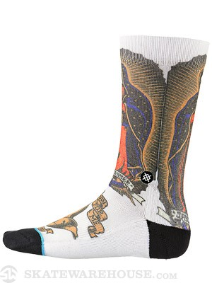Stance Jason Jessee Artist Series Socks  White