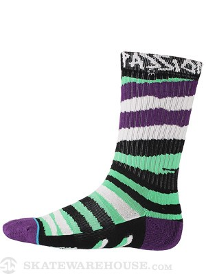 Stance Everyday Athletic Lizard King Socks  Green