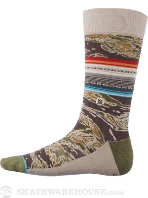 Stance Saigon Socks  Green Camo