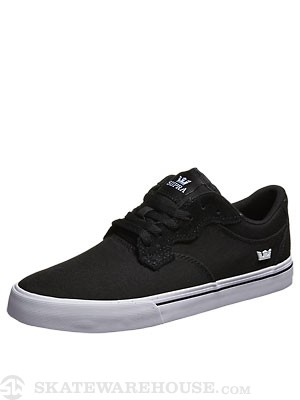 Supra Axle Shoes  Black/Black/White