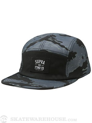 Supra Centerfield 5 Panel Hat Black/Camo