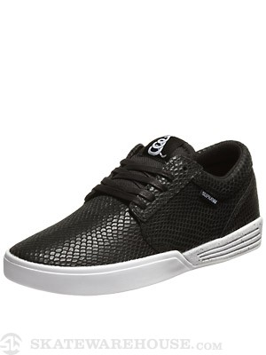 Supra Greco Hammersnake Shoes  Black/White