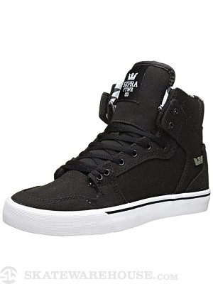 Supra Kids Vaider Shoes  Black/Black/White