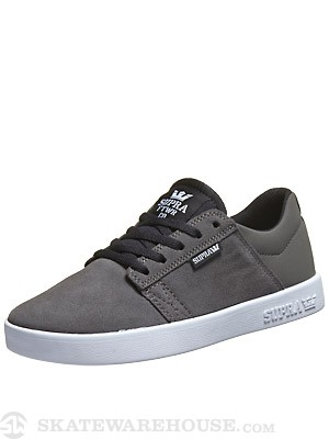 Supra Kids Westway Shoes  Charcoal/Black/White