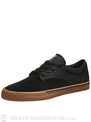Supra Pistol Shoes  Black/Gum