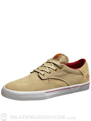 Supra x Illuminati Pistol Shoes  Tan/Red