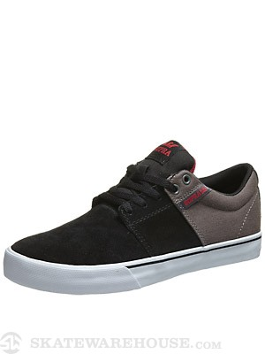 Supra Stacks Vulc II Shoes  Black/Grey/White