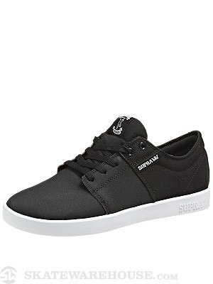 Supra Stacks Low Shoes Black/Canvas/TUF