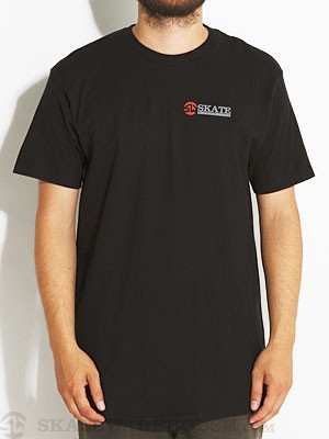 Skate Warehouse Banner Logo Tee Black SM