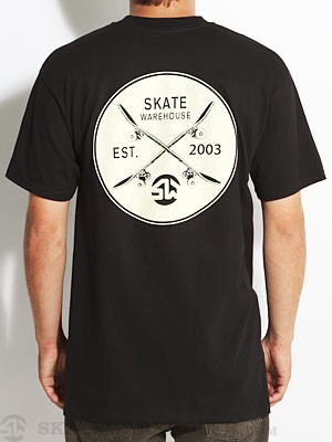 Skate Warehouse Crossed Up Tee Black SM