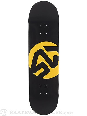 Skate Warehouse Dot Icon Black Deck 8.375 x 32