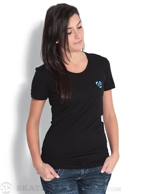 Skate Warehouse Heart On Tee Black XS