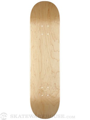 Skate Warehouse Blank V-Natural Deck  8.5 x 32.5