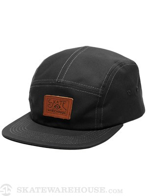 Skate Warehouse Camp Hat Black Adj.