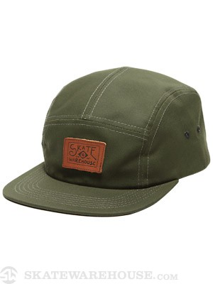 Skate Warehouse Camp Hat Olive Adj.