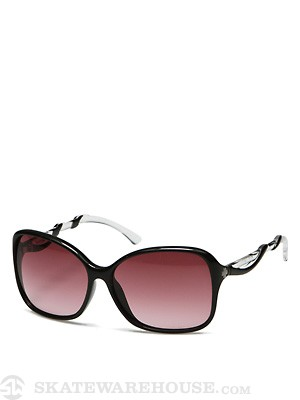 Spy Fiona Girls Black Clear/Merlot Fade Lens