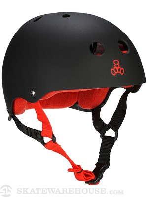 Triple 8 Brainsaver Helmet Black Rubber LG