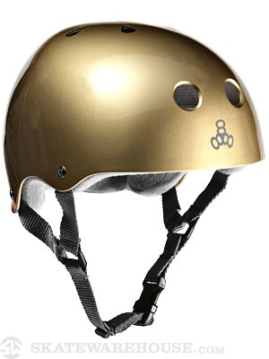 Triple 8 Brainsaver Helmet Metallic Gold MD