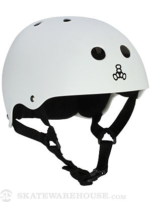 Triple 8 Brainsaver Helmet White Rubber MD