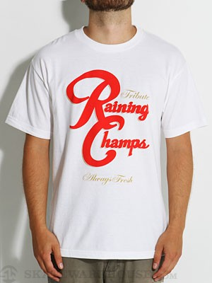 Tribute Raining Champs Tee White LG