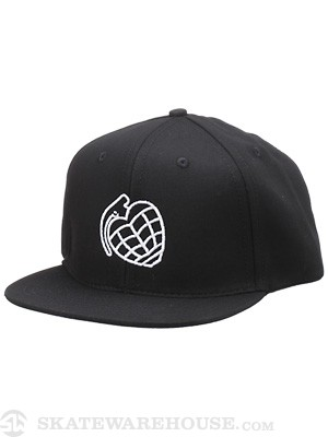 Thunder Base Snapback Hat Black